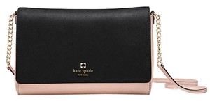 Kate Spade Crossbody Satchel in soft rosetta/black