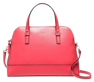 Kate Spade Small Rachelle Satchel in flamingo/ Gold tone