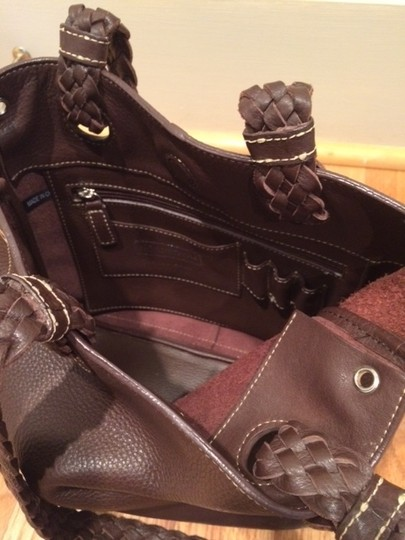 Nordstrom Leather Bags Leather Purse Pebbled Leather Great Leather Tote in Brown Image 1