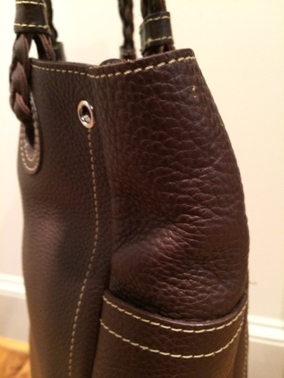 Nordstrom Leather Bags Leather Purse Pebbled Leather Great Leather Tote in Brown Image 4