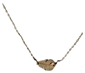 Other Charming Gold Plated Necklace With Feather And Pearl