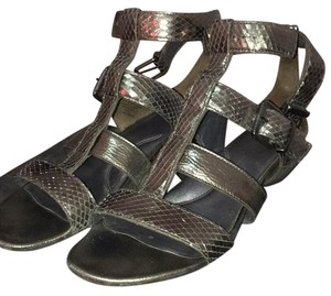 Kenneth Cole Silver, Black, Pewter Sandals