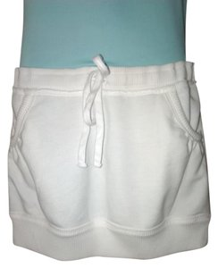 Abercrombie & Fitch Mini Sport Drawstring Pockets Mini Skirt White