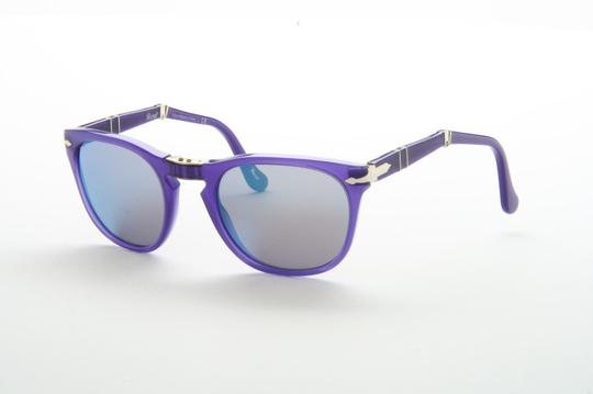 Persol PERSOL 3028-s SUNGLASSES folding PURPLE BLUE lenses Steve McQueen 98704 52m Style 714