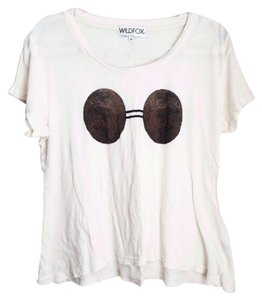 Wildfox T Shirt Ivory white