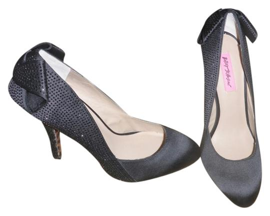 Betsey Johnson Crystal Retro Black Pumps