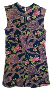 Free People Floral Keyhole Fitted Cotton Tunic