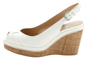 Stuart Weitzman Stylish Platform Weitzman Trend White patent and natural heel Wedges
