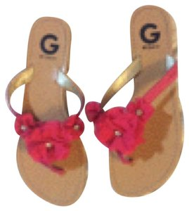 Guess Pink, brown Sandals