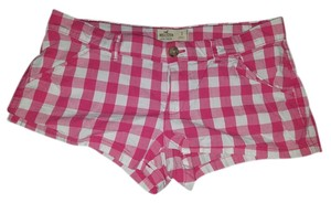 Hollister Plaid Chekered Mini/Short Shorts Pink