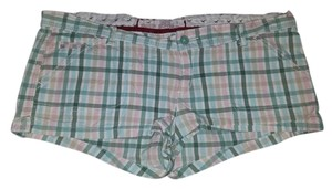 Hollister Plaid Checkered Mini Pink Mini/Short Shorts Pink, green