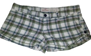 Hollister Plaid Mini Checkered Mini/Short Shorts green
