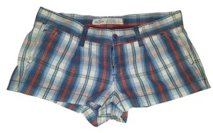 Hollister Plaid Chekered Mini Mini/Short Shorts red, blue