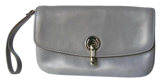 Item - Like New Grey Leather Wristlet