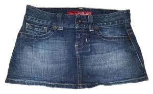 Guess Mini Denim Dark Wash Mini Skirt blue