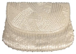 Beaded Vintage White Clutch