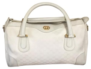 Gucci Satchel in White Gold