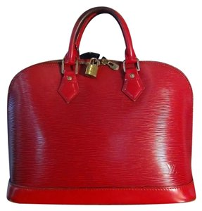 Louis Vuitton Satchel in Brazillian Red