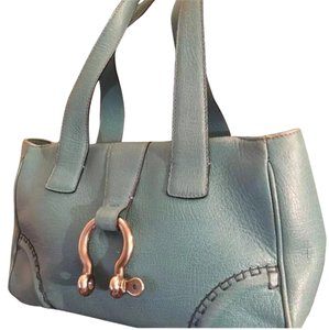 Burberry Satchel in Sky Blue