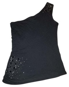 Express Sexy 1 Strap Rhinestone Top black