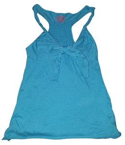 Free People Rouged Racerback Turquiose Top blue