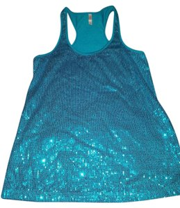 Xhilaration Racerback Sequin Bling Top blue