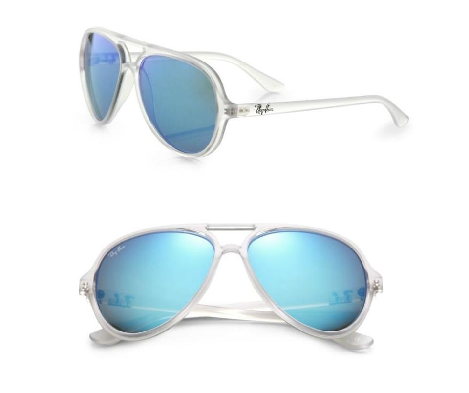 eb65f772184 ... Ban Sunglasses Aviator Cats 5000 Blue Mirror Lens RB 4125 w Ray.  12345678