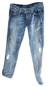 Re Rock for Express Straight Leg Jeans-Distressed