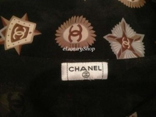 Chanel short dress BLACK Cc Logo Silk on Tradesy