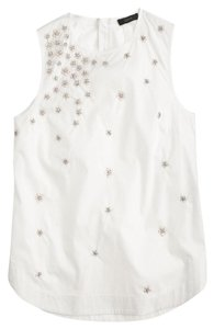 J.Crew Shell Sequin Top White