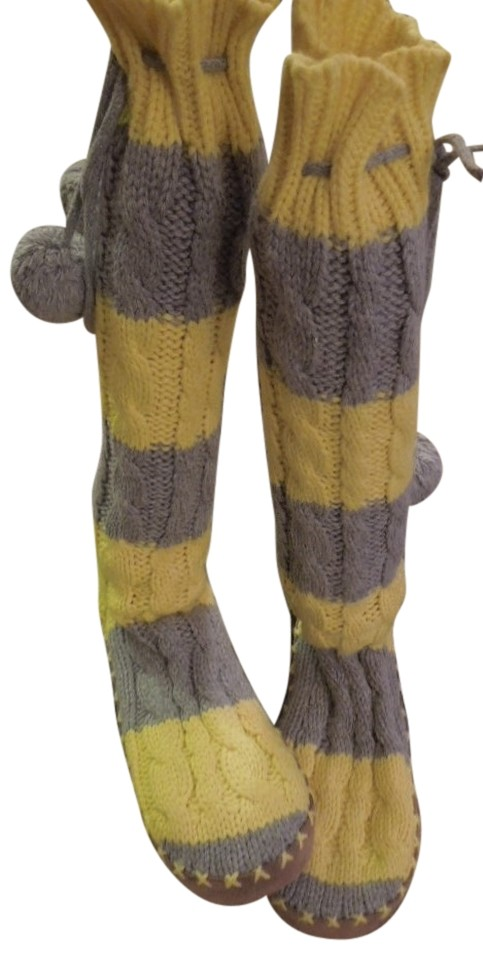 2720a6d77d PINK Victoria s Secret Knit Slipper Socks Muluks New Indoor Outdoor  Discount Gray   Yellow Boots Image ...