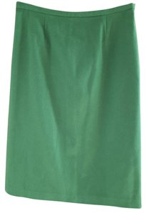 GERARD DAREL Wool Cashmere Lined Skirt Green