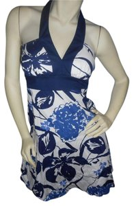 Speechless short dress Blue floral on white on Tradesy