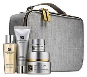 Estée Lauder ESTEE LAUDER RE-NUTRIV FOUR PIECE SET IN SILVER CASE