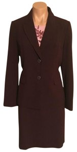 Apostrophe Apostrophe Plum Burgundy Jacket and Skirt Suit Set Stretch 8P