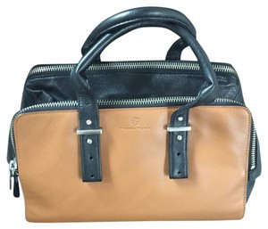 Trina Turk Satchel in Black & Tan
