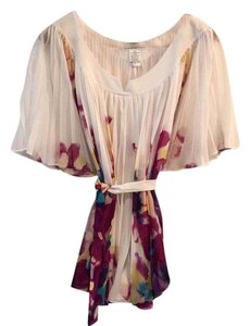 Diane von Furstenberg Top White/purple/yellow/blue