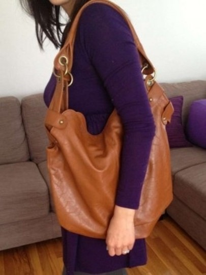 Alloy Bohemian Light Brown Leather Hippie Brown Leather Delia's Hobo Bag