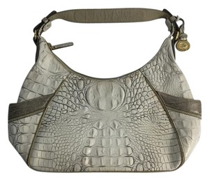 Brahmin Moscato Croc Leather Hobo Shoulder Bag