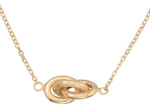 Other Made in Italy 14 Karat Gold Plated Necklace with Triple Link Design