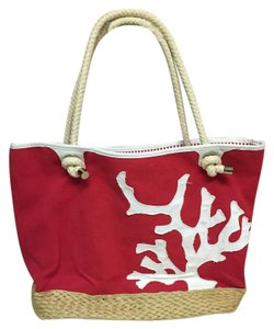 Talbots Fire Engine Red Beach Bag