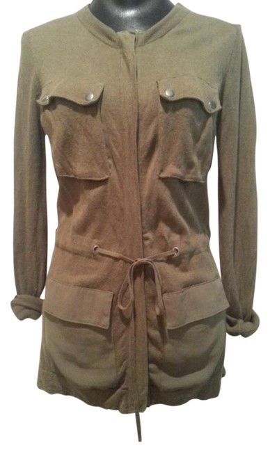 Item - Olive Green Military Style Sweater Cardigan Size 2 (XS)