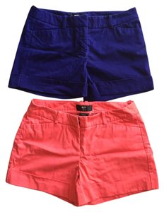 Mossimo Supply Co. Cotton Stretch Mini/Short Shorts Cobalt Blue, Coral