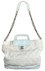 Chanel In The Mix Quilted Chain Gray Messenger Bag