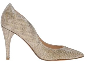 Nine West Wedding Glitter Formal Gold Metallic Pumps