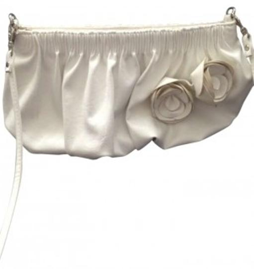 ALDO Shoulder White Leather Flower Purse Flower Leather Cross Body Bag