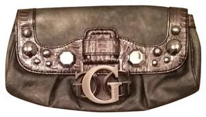 Guess Nightout Fashion Style Handbag Gunmetal Grey Clutch