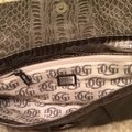 Guess Nightout Fashion Style Handbag Gunmetal Grey Clutch Image 4