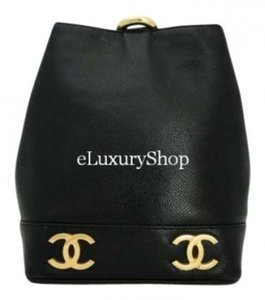 Chanel Cross Body Sling Cc Logo Tote Caviar Leather Shoulder Bag