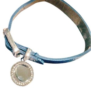 Things Remembered leather look bracelet with dangle charm